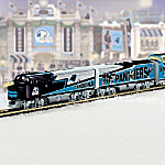 Collectible NFL Football Carolina Panthers Express Electric Train Collection