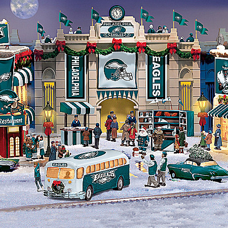 Christmas Village Collectibles Collectible Philadelphia Eagles Christmas Village Collection