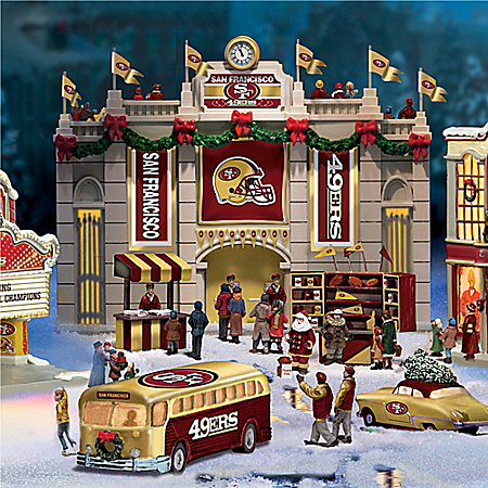 San Francisco 49ers Collectible Christmas Village Collection