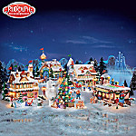 Christmas Village Collectibles Rudolph The Red-Nosed Reindeer Christmas Town Village Collection