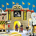 Christmas Village Collectibles Collectible Pittsburgh Steelers Christmas Village Collection