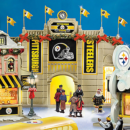 Collectible Pittsburgh Steelers Christmas Village Collection