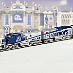 Hawthorne Village Collectible NFL Football Dallas Cowboys Express Electric Train Collection