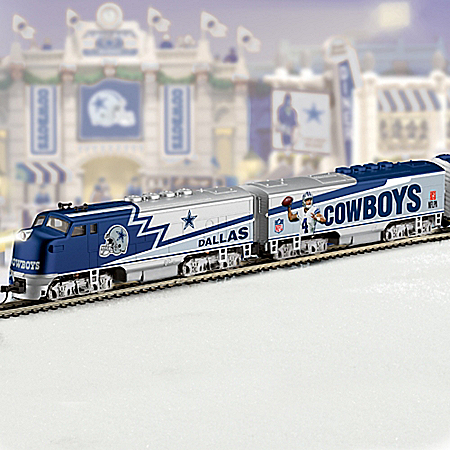 Collectible NFL Football Dallas Cowboys Express Electric Train Collection