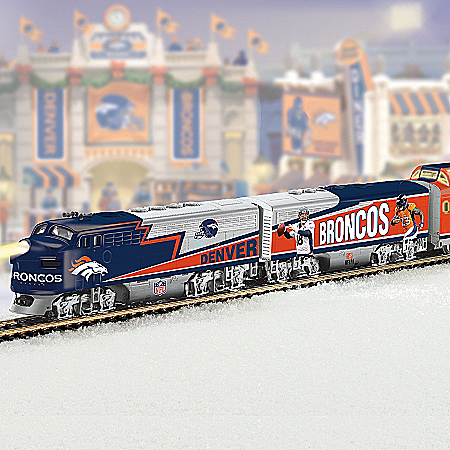 Denver Broncos Express Train Collection With Super Bowl 50 Car