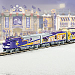 Collectible NFL Football Minnesota Vikings Express Electric Train Collection