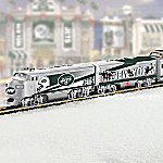 Collectible NFL Football New York Jets Express Electric Train Collection