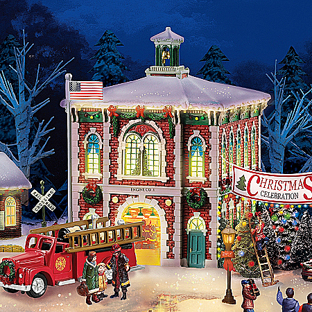 Christmas Village Collectibles Firefighter Christmas Village Collection