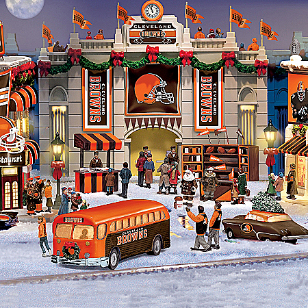 Christmas Village Collectibles Cleveland Browns Collectible Christmas Village Collection