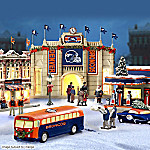 Denver Broncos Collectible Christmas Village Collection
