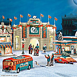 Christmas Village Collectibles Miami Dolphins Collectible Christmas Village Collection