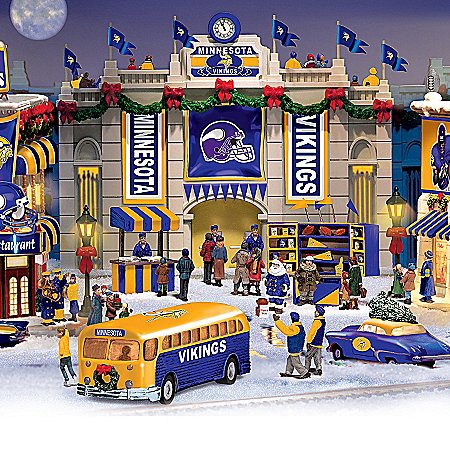 Christmas Village Collectibles Minnesota Vikings Collectible Christmas Village Collection