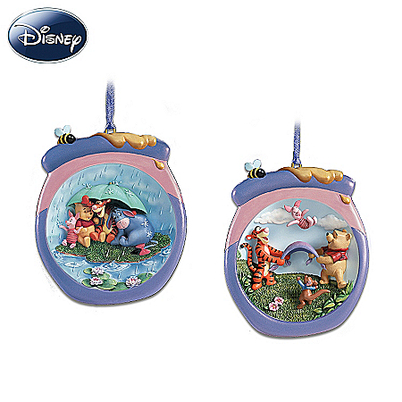 Pooh's Honeypot Adventures Disney Christmas Ornament Collection