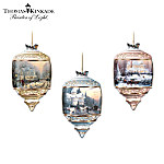 Thomas Kinkade Heirloom Glass Christmas Ornament Collection