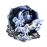Enchanted Spirits Collectible White Unicorn Fantasy Art Wall Decor Collection