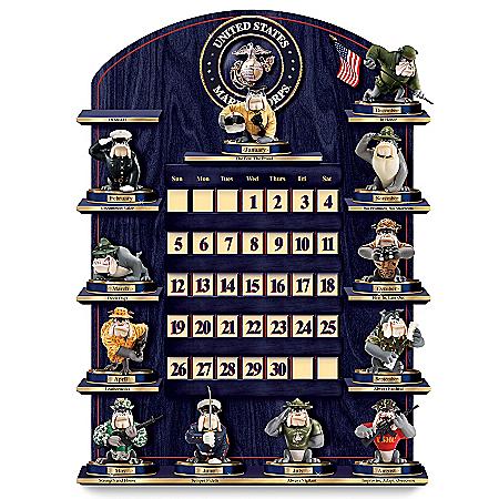 Collectible USMC Perpetual Calendar: USMC Wall Decor