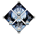 Souls Of The Night Al Agnew Wolf Art Candlelit Quartet Wall Decor Collection