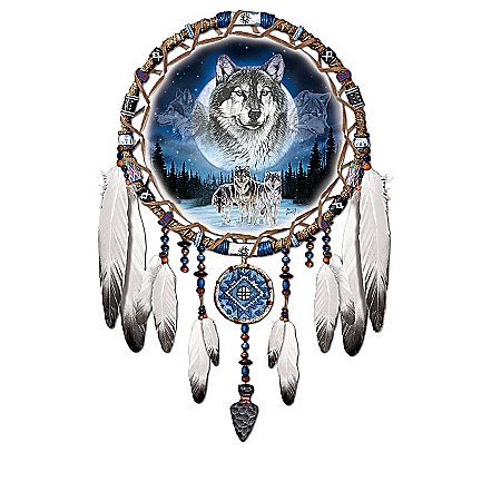 Spirits Of The Pack Native American-Style Wolf Art Wall Decor Collection