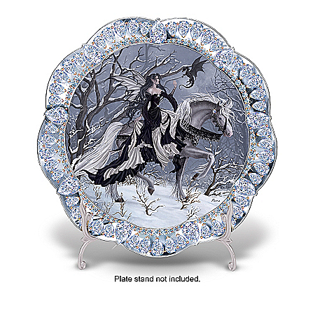Home Decor Collectibles Crystal Enchantment Fantasy Art Collector Plate Collection: Unique Home Decor