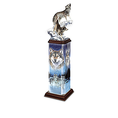 Illuminations Of The Wild Collectible Wolf Art Tabletop Sculpture Collection
