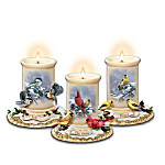 Terry Isaac Seasonal Serenades Songbird Candleholder Collection