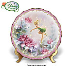 Disney Tinker Bell And Lena Liu Floral Art: Pixie Gardens Plate Collection
