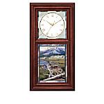 Al Agnew Timeless Wilderness Wolf Art Wall Clock Collection