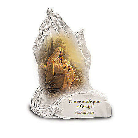 In God's Hands Religious Art Figurine Collection