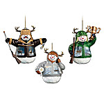 Deer Snowman Ornament Collection