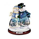 Thomas Kinkade Musical Snowman Figurine Collection - Snow Couples