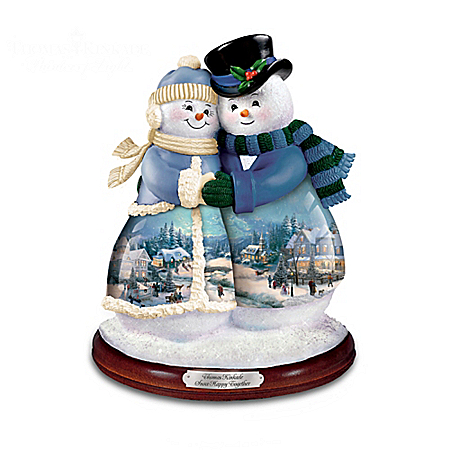 Thomas Kinkade Musical Snowman Figurine Collection