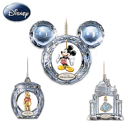 Christmas Ornament Ultimate Disney Character Crystal Christmas Ornament Collection: Crystal Reflections