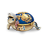 United States Marine Corps Heirloom Porcelain Turtle Music Box Collection: Little Heroes