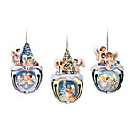 Christmas Blessings Jingle Bell Angel Ornament Collection: Sets Of Three
