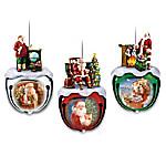 Dona Gelsinger's Santa Sleigh Bells Ornament Collection
