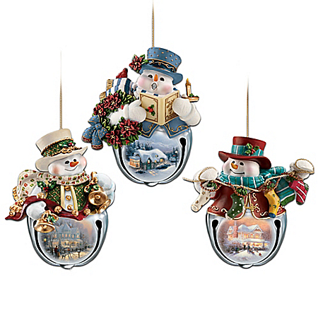 Thomas Kinkade Snow-Bell Holidays Ornament Collection