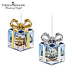 Thomas Kinkade Gift-Shaped Christmas Ornament Collection