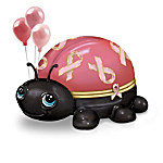 Breast Cancer Support Pink Ribbon Love Bugs Ladybug Music Box Collection