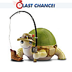 Heirloom Porcelain Turtle Music Box Collection: Gone Fishin