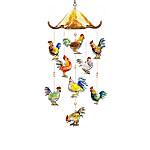Morning Serenade Rooster Art Glass Hanging Sculpture