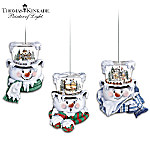 Thomas Kinkade Top Of The Season Snowman Ornament Collection