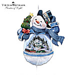 Thomas Kinkade Snowman Motion Christmas Ornament Collection
