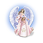 Granddaughters Crystal-Winged Musical Angel Figurine Collection