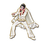 Elvis Presley 24K Gold-Plated Pin Collection Rocking' Through The Years