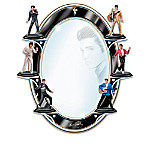 Elvis Presley Figurine Collection With Mirror Display: Reflections Of Elvis