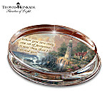 Thomas Kinkade Masterpiece Genuine Crystal Paperweight Collection