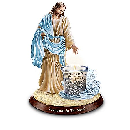 Jesus Christ Inspirational Candleholder Collection: God's Guiding Lights