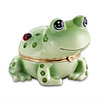 Little Dreams Come True Frog Heirloom Porcelain Animoges Music Box Collection