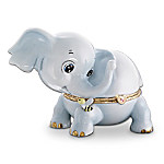 Little Lucky Elephant Heirloom Porcelain Animoges Music Box Collection