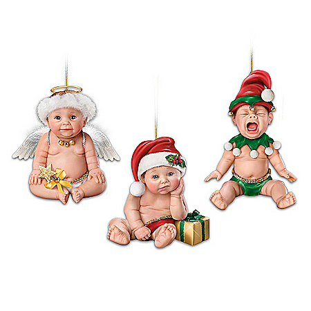 Baby Christmas Ornament Collection: Santa, It's Not Easy Being Cute